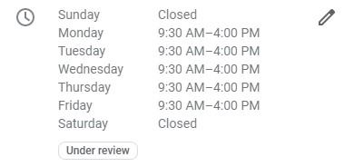 Google reviews – hours of operation, business description, photos, etc – before publishing. - milestoneinternet.com, Milestone Inc.
