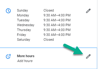 Google My Business - How to fix incorrect hours