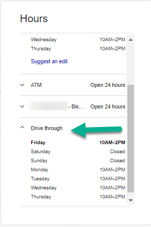 example of incorrect hours listed on Google