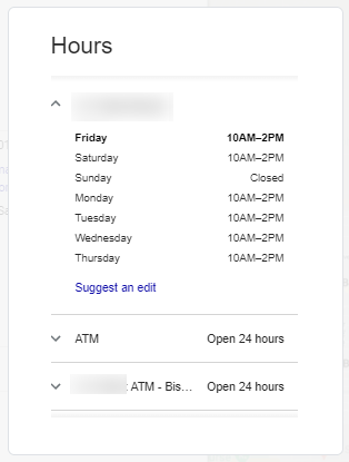 Google My Business - Final result correct hours showing on Google search and maps
