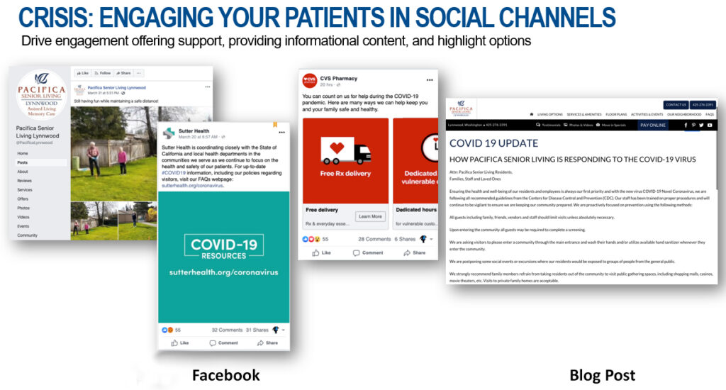 Engage to your through social channels