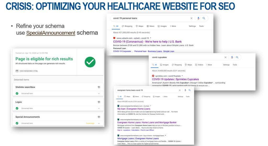 Optimize you healthcare website for SEO