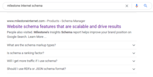 Schema Snippet - milestoneinternet.com, Milestone Inc.