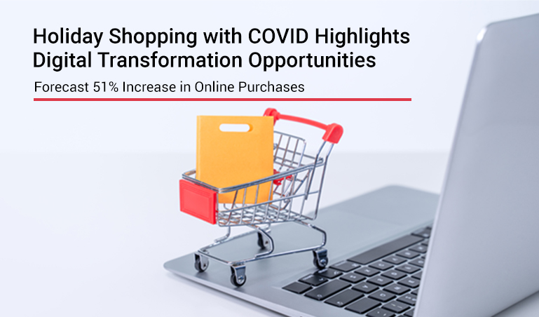 Holiday Shopping with COVID Highlights Digital Transformation Opportunities with Forecast 51% Increase in Online Purchases