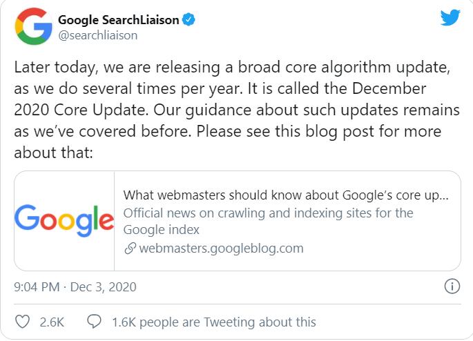 Core Algorithm Update - milestoneinternet.com, Milestone Inc.