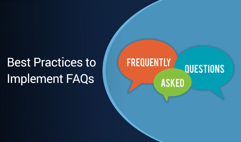 Best practices to implement FAQs