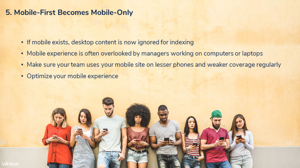Mobile-first becomes mobile-only - milestoneinternet.com, Milestone Inc.