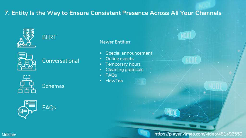 Entity is the foundation of content consistency - milestoneinternet.com, Milestone Inc.
