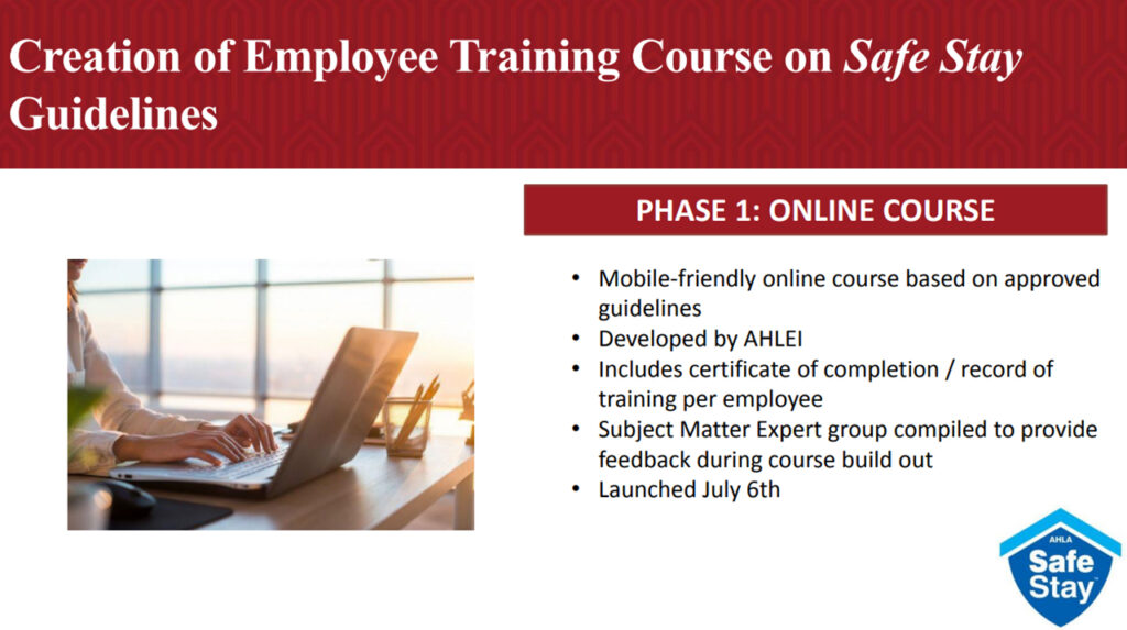 Creation of Employee Training Course on Safe Stay Guidelines - milestoneinternet.com, Milestone Inc.
