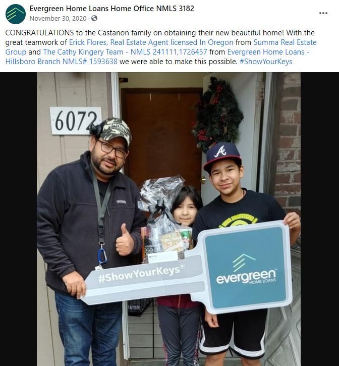 Evergreen Home Loans campaign to help people share the big news  - milestoneinternet.com, Milestone Inc.