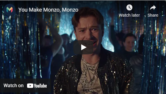 The Monzo banking group video campaign - milestoneinternet.com, Milestone Inc.