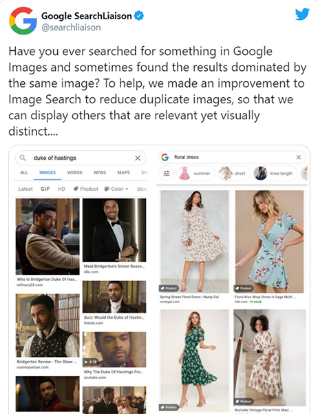Image search update – Reduce duplication