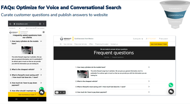 FAQs: Optimize for voice & Conversational Search