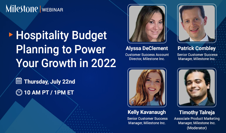 Milestone Webinar: How to drive growth for your hotel in 2022