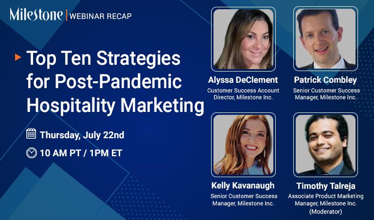 Webinar: Top Ten Strategies for Post-Pandemic Hospitality Marketing